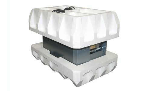 Molded expanded polystyrene protective packaging example