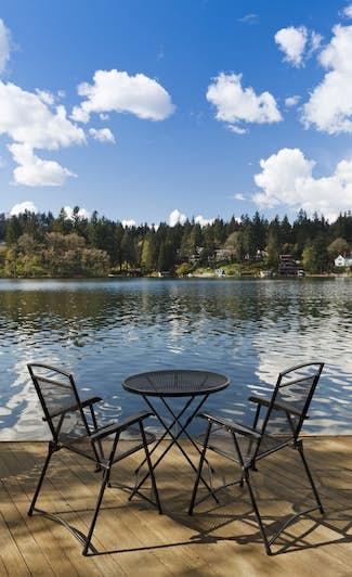 Dock beside a lake