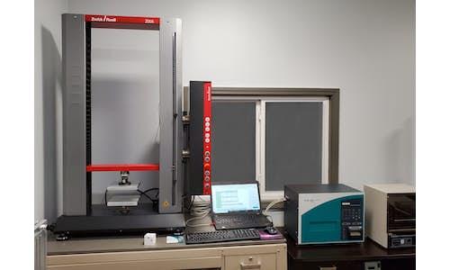 Testing equipment in Cellofoam's laboratory
