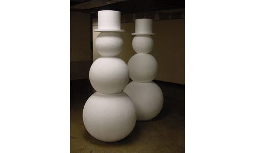 Snowmen made of EPS