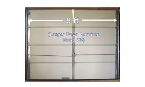 Example installation of Cellofoam's Garage Door Installation Kit