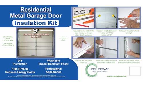 Flier included with Cellofoam's Garage Door Insulation Kit