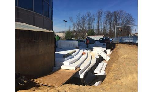 Geofoam construction project