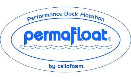 Permafloat dock float logo