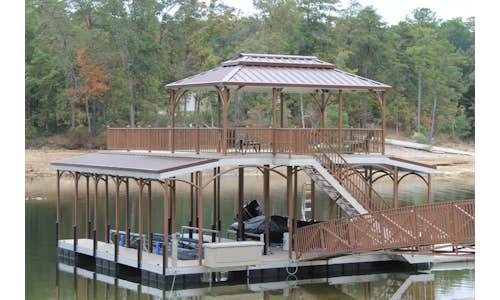 Pretty dock made using Permafloat dock floats
