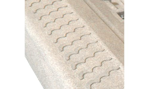 Close-up of non-slip wave pattern on a Permaport Legacy PWC dock
