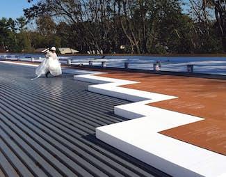 Foam roof insulation