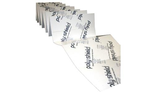 Fan-fold insulation showing accordion-like folds