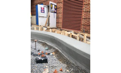 EPS used in forms to make a complex curved concrete features