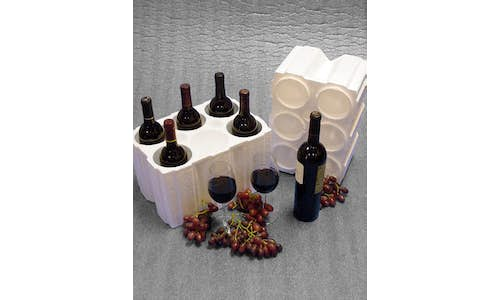 Molded EPS wine shippers