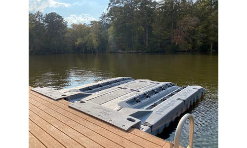 Two Permaport Xpress docks with Xpress Steps and an Xpress Walk